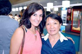 Anita Bonette de l'Afrique du Sud et Nathalie Lai Choo de Barclays.