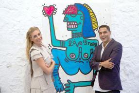 Giya Yakova, artiste, et Gael Froget.