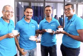 Bruno Madanamoothoo, Financial Controller, Vinaissen Pechaycaren, Accountant, Vikash Bundhun, Assistant Stock Controller, et Stephan Rambhoro, Marine and Black Oil Depot Manager.