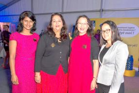 Belinda Terroovengadum-Ramtohul, Corporate Communications Manager, Sheila Virahsawmy, Health and Safety Manager, Nancy Young, HR Manager, et Sophia Imbert, HR Business Support Manager, tous de Vivo Energy Mauritius.