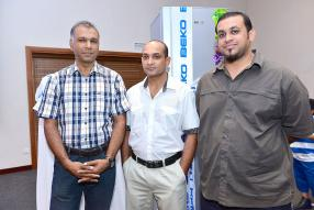 Naushad Dilmahomed de Premier Marketing, Karshik et Reeshalut Fokeerbux de Fokeerbux Ltd.