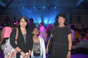 Raji Shridhar, Jaanvi Sridhar et Sindia Quenette.