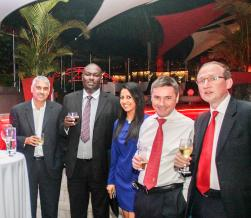 Ben Padayachy, Group Managing Director, Gamma Civic Group, Richard Ndungu, Head of the Tax and Regulatory Services, KPMG East Africa Practices, Sharona Rambocus, Senior Manager, International Business Development, ABAX, Ben Le Sueur, Client Services Director, Salamanca Group, et Ryan Loughins, Director, KPMG Mauritius.