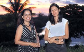 Jamuna Gopaul, directrice, et Sheila Poonyth, toutes deux de Corporate Support Services.