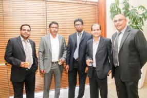 Faizal Khoodoruth, Senior Manager, KPMG Mauritius, Sunkursing Ramphul, Risk and Compliance Director, MATCO, Rajeev Tatiah, Senior Manager, KPMG Mauritius,  Bob Bachun, Director, MITCO, et Hurry Sookur, Senior Manager, KPMG Mauritius.