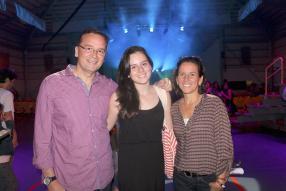 Renaud, Romy et Beatrice Lagesse.
