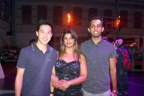 Joey Foo-Kune, Rajini Murgur et Ashwan Mungur.