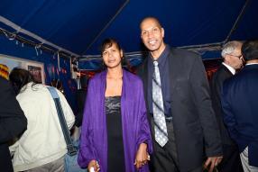 Le maire de Curepipe, Mario Bienvenu, et son épouse Maryline.