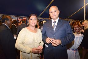 Ajay Seebaluck, Assistant Superintendent of Police, et son épouse Rabia.