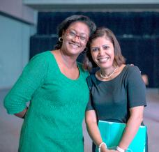Marie Noelle Elissac-Foy, PR Manager au Mauritius Institute of Professional Accountants, et Géraldine Secondis, Events Coordinator, ACOA 2015.