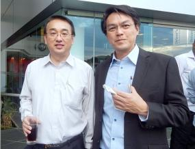 Patrick Li Ying, Chief FX Trader à la Mauritius Commercial Bank, et Brian Ah Chuen, Strategic Business Executive d'ABC Banking.