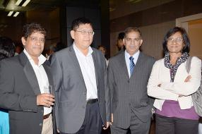 Bheem Ramruttan, Chief Executive Officer (CEO) de la MIPA, Joe Chan, Tax Partner de Baker Tilly (Mauritius) Limited, Pawan Kumar Napaul, Deputy Director of Audit du National Audit Office, et Geeta Virahsawmy, Sales and Administrative Executive de la MIoD.