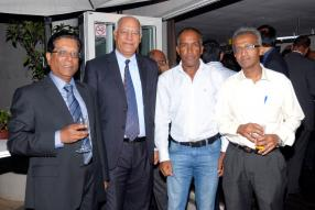 Deva Armoogum, Researcher in Public Sector Governance and Ethics, Mario Hannelas, Director – Large Taxpayer, MRA, Manoj Ramdin, CEO de Galana Group, et Gerard Bussier, Deputy Director – Ministry of Finance and Economic Development.