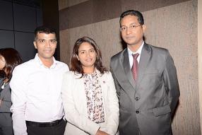 Yousouf Hansye, Varsha Bishundat et Arvind Gokhool, tous des membres de l'ACCA Mauritius Network Panel.