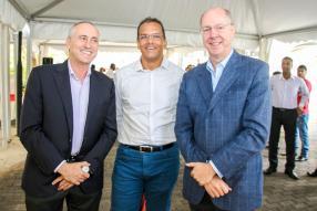 François Venin, directeur commercial de Beachcomber, Richard Robert, General Manager de Mautourco, et Alain Rey, directeur financier par intérim chez Beachcomber.