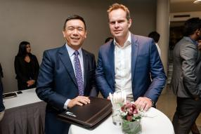 Ben Lim, Chief Executive Officer (CEO) d'Intercontinental Trust, et Mark Van Beuningen, CEO de Cim Financial Services.