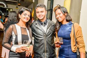 Diana Seesurrun, Business Developper, National Insurance Company Ltd, Djamil Dilmahomed, étudiant à la Rushmore University, et Madvee Muthu, propriétaire d'Impact Consulting.