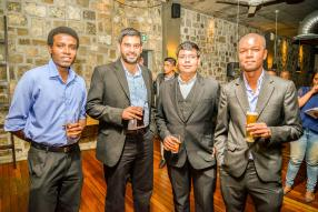 Désire Dian, avocat, Junaid Udhin, General Manager de Harel Mallac Global Services Ltd, Zuhayr Panchoo, Project Manager en free-lance et YALI 2014, et Rick Bonnier, Educational Officer à la Mauritius Marine Conservation Society et YALI 2014.