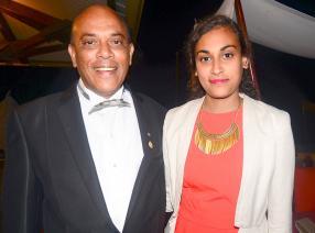 Désiré Mariette, président du Rotary Club d'Albion, et sa fille Gaëlle, étudiante.