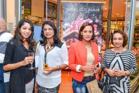Aurelie et Clymen Sevene, Haima Vencatasawmy et Dashni Lutchmun, des clientes VIP de L'Occitane.