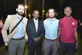 Carlos Tornero, Editor chez The Accountant en Angleterre, Patrick Kagoro, président de l'Institute of Certified Public Accountants of Uganda (ICPA), Vincent Huck, Reporter chez The Accountant, et Christian Sottie, vice-président de l'Institute of Chartered Accountants Ghana.