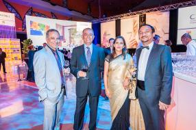 Sanjeev Kaura, vice-President Sales chez Himalaya Herbals, Rabin Gungabissoon, Head of Sales & Marketing chez Soap & Allied Industries Ltd, Anjana Conhye, manager, MD's Office, Currimjee Jeewanjee & Co. Ltd, et Uday Shankar Sinha, Managing Director de Pepsi Lipton JV, AMEA.