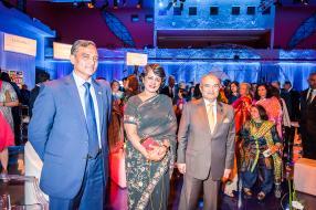 Son excellence Raza Muhammad, High Commissioner du Pakistan, Ameenah Gurib-Fakim, présidente de la République de Maurice, et Bashir Currimjee, Chairman du groupe Currimjee.
