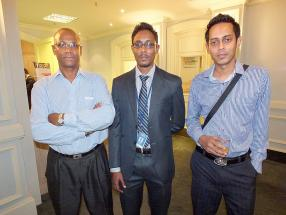 Jona Apelbaum, Senior Systems Engineer chez Citrix, Nilesh Bhugowandeer, ingénieur chez MCS, Kailesh Bhekir, Assistant IT Manager chez Wensum, et Guvinda Mooroogen, Assistant Systems Engineer chez MCS.