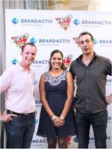 Olivier Fajol, Chef Executive de LUX* Grand Gaube, Zarine Sayfoo Tetra, Brand Coordinator chez BrandActiv, et Yoann Brillant de La Pirogue Hotel Mauritius.