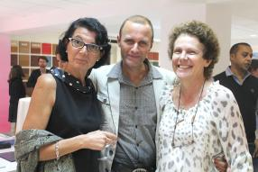 Anne Ritter, directrice de BSR Marketing, Alexandre Koenig, architecte, designer et artiste, et Catherine Gris de l'Association of Mauritian Manufacturers.