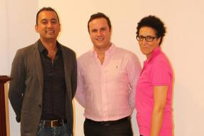 Rajesh Chummun, Brand Director, Thibaut de Navacelle, Marketing & Retail Manager, et Samia Ah-see, Brand Manager, tous de Fashion Style.