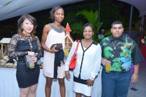 Claudia Chung, Jaylan Alexs, Patricia Urbain et Arshad Rummun, tous participants.