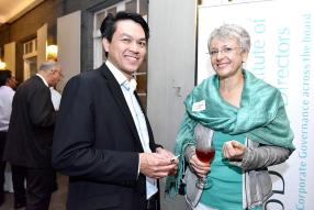 Brian Ah Chuen, Strategic Business Executive Banking d'ABC Banking Corporation Ltd, et Susanne Alfs, CEO d'Acoyvis Ltd.