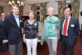Louis Denis Koenig, Jane Valls, Susanne Alfs et Steve Leung, Head of Marketing de la Mauritius Commercial Bank.