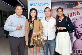 Patrice et Joyce King, propriétaires de King Bros Ltd, Kenneth Tsang, Relationship Manager à la Barclays, et Jennifer Johnson, Head of Marketing and Corporate Relations à la Barclays.