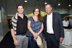 Denis Claude Pilot et son épouse aux côtés de Paul Corson.