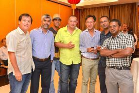 Tony Lim Liong Kee, Fadil Earally, Abhinesh Dussain, Dimitri Dulaurent, Didier Ah Sun, Raj Laljee et Patrick Lareine.