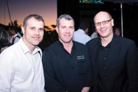 Dominique Oudin, Executive Chef, Jacques Ledu, Executive Chef, et Christian Bräu, Executive Assistant Manager, tous de Sofitel Imperial Resort and Spa.