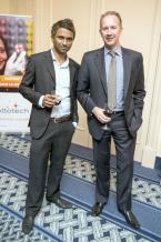 Nishan Aubeeluck, Marketing Manager SEM, et James Benoit, CEO d'Afrasia Bank.