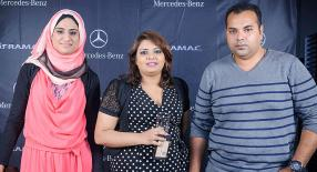Nusrat Munir, Shareemah Boolakee Caramtally et Tariq Caramtally de Fireworks Event.