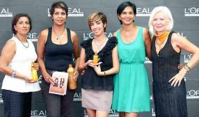 Gilberte Joly, Christine Ibanez, Martine Drouin, Sachitah Magisson, Véronique Lemessier, toutes de L'Oréal Professionnel (BrandActiv).