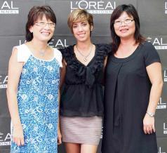 Marie-Josée Li de Flash Coiffure, Martine Drouin, Brand Coordinator de L'Oréal Professionel (BrandActiv), et Kathleen Li du salon Katbalou.