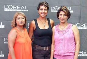 Corinne Vachet de Coiffure des Iles, Christine Ibanez de L'Oréal Professionnel (BrandActiv) et Surekha Limbea d'Unisex Cut n Brush.