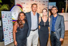 Smita Gooljar de RSVP Events, Yannick Cécile de Plaisance Catering, Loren d'Arifat et Darish Ramtohul de Maluti Communications.