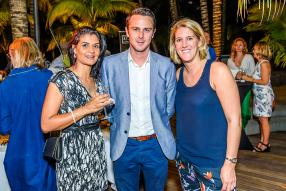 Arianne Devienne-Bellepeau, Leisure & Events Manager de Beachcomber Hotels, Olivier Lagane de Beachcomber, et Jen Impett, Event Director du World Club 10s.