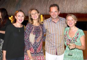 Zelia Bauwens, Brand & Product Executive, Attitude, Clémentine Katz, Marketing Manager d'Attitude, Michel Fredricw, General Manager de l'hôtel Blumarine Attitude, et Karine Merven, Art Director d'Attitude.