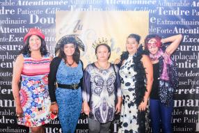 Monica Maurice, Patricia Aliphon, Shirley Bourbon, Géraldine Dursoniah et Christelle Brutus-Magdeleine.