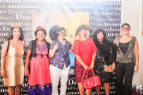 Beatrice Gopee, Manisha Bundhoo, Marie-Noelle Wong, Marie-Noelle Laydhur, Violet Ramsamy et Priscille Bancilhon.