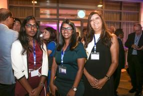 Anitchum Veerasamy, Gouchika Bismohun et Maureen Jatteesing, toutes les trois d'Omnicane.