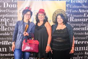Ayline Letshee, Joelle Anthony et Pamela Yagambrum.